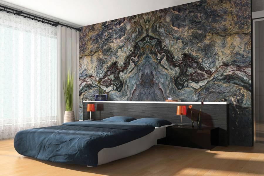 Гранитное панно на стену с необычным рисунком