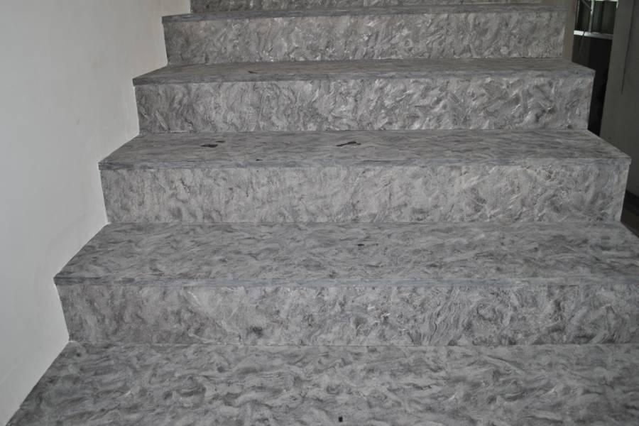 Лестница из необычного гранита Матриск